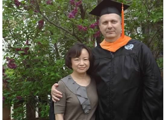 Master's Graduation Picture